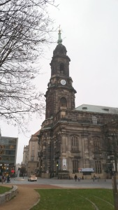 Kreuzkirche, the Evangelische church, in Dresden