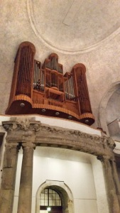 The organ in Kreuzkirche, Dresden.