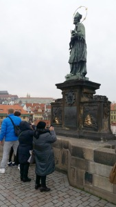 St. John Nepomuk, statue on bridge