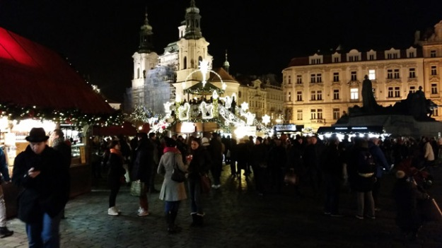 Christmas Market in the square, in Prague