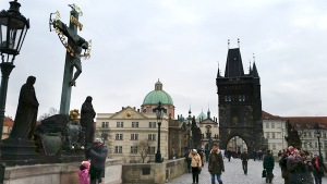 Statues on the Bridge, Prague