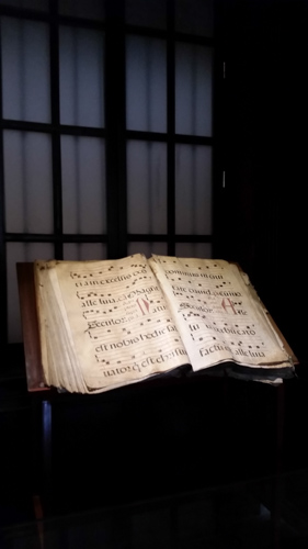 Chant book in monastery
