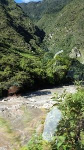 Landscape on the way to Machu Picchu.