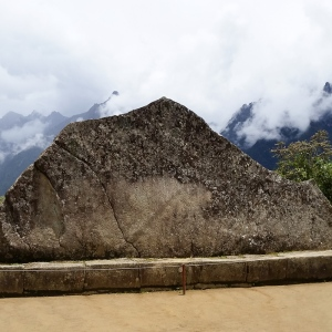 Sacred rock. It outlines the mountain behind it.