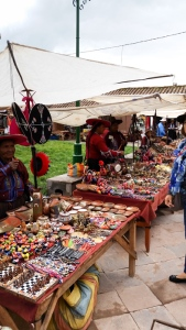 Local market at Raqchi