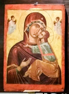 The beauty of maternal love. Icon from Bulgaria.