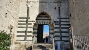 Entrance to castle. Prato, Italy.