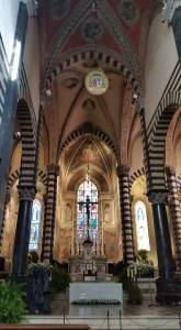 Interior of cathedral. Prato, Italy.