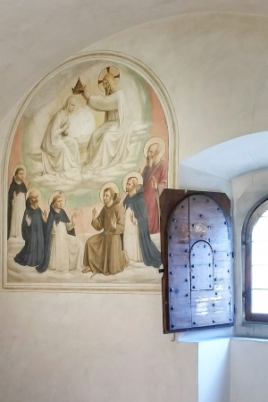 Fra Angelico fresco in monastery cell. Museum of San Marco.