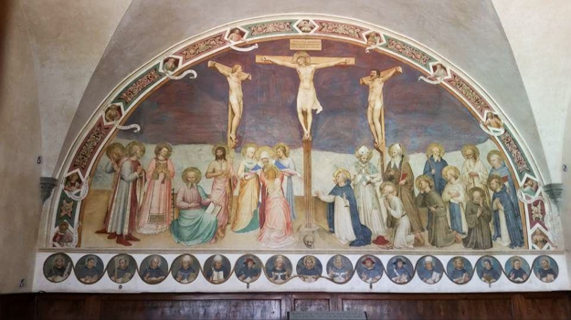 Crucifixion with saints. Monastery chapter room. Museum of San Marco. Florence, Italy.