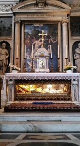 Side altar with local saint, Antonio Pierazzi. San Marco Church. Florence, Italy.