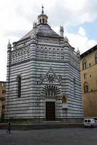 Baptistery. Cathedral. Pistoia, Italy.