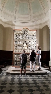 Silver altar of Saint James. Cathedral. Pistoia, Italy.