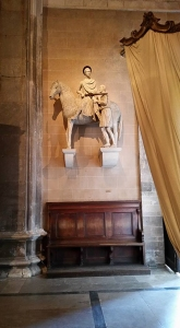 Statue of Saint Martin of Tours. Cathedral. Lucca, Italy.