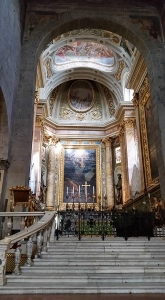 Sanctuary of cathedral. Pistoia, Italy.