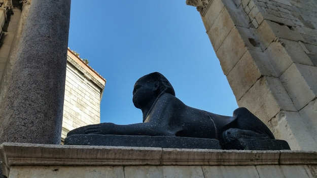 A sphinx that Diocletian brought back from Egypt.