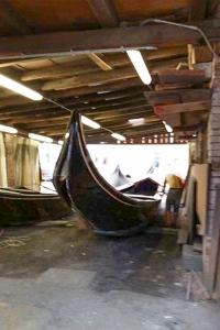 Gondola repair workshop. Venice. Italy.