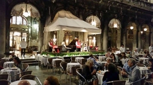 Band playing at the Florian cafe. St. Mark's Square. Venice. Italy.