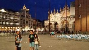 Saint Mark's Basilica at night. Venice. Italy.