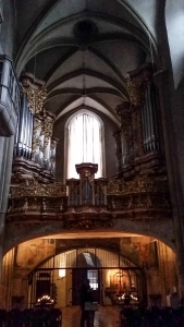 The organ at Michaelerkirche.