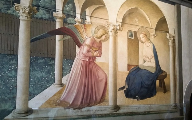 The Annunciation, fresco by Fra Angelico in San Marco in Venice.