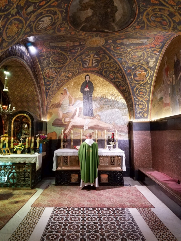 The Latin chapel of Calvary where we celebrated Mass.