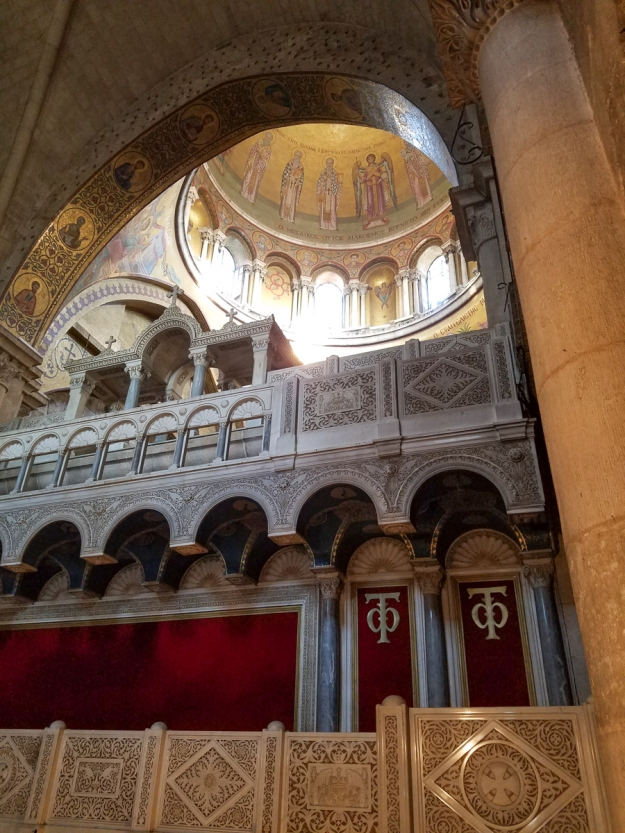 The dome over the Greek church in the Sepulchre.