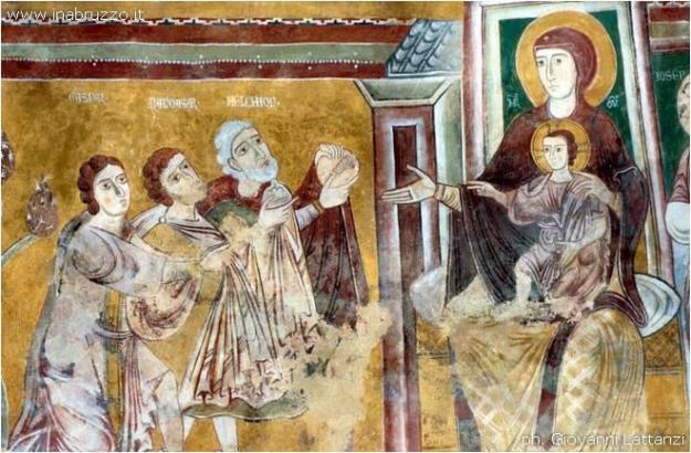 From the Facebook page of Musei Italiani. This fresco is from the Oratory of San Pellegrino in Bominaco, Italy.